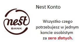 Nest Konto. Konto za zero złotych