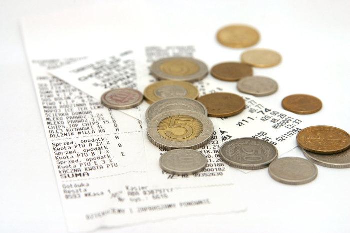 rachunek - monety polskie - złotówki i grosze