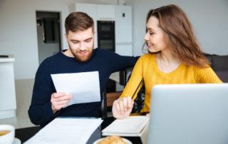 para - kobieta i mężczyzna przedsiebiorcy - wypełniający PIT 36